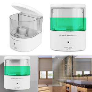 Image 4 - Dropship 600ml Wall Mount Battery Powered Automatic IR Sensor Soap Dispenser Touch Free for Kitchen Bathroom High Quality