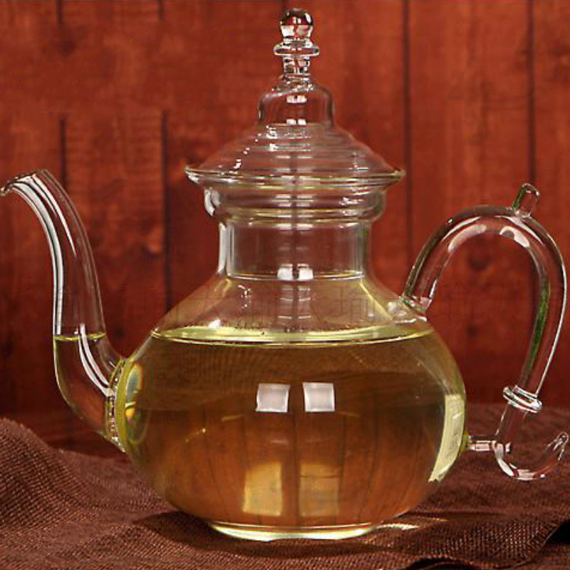 High temperature resistant glass tea set Filtered glass flower teapot Personality profile