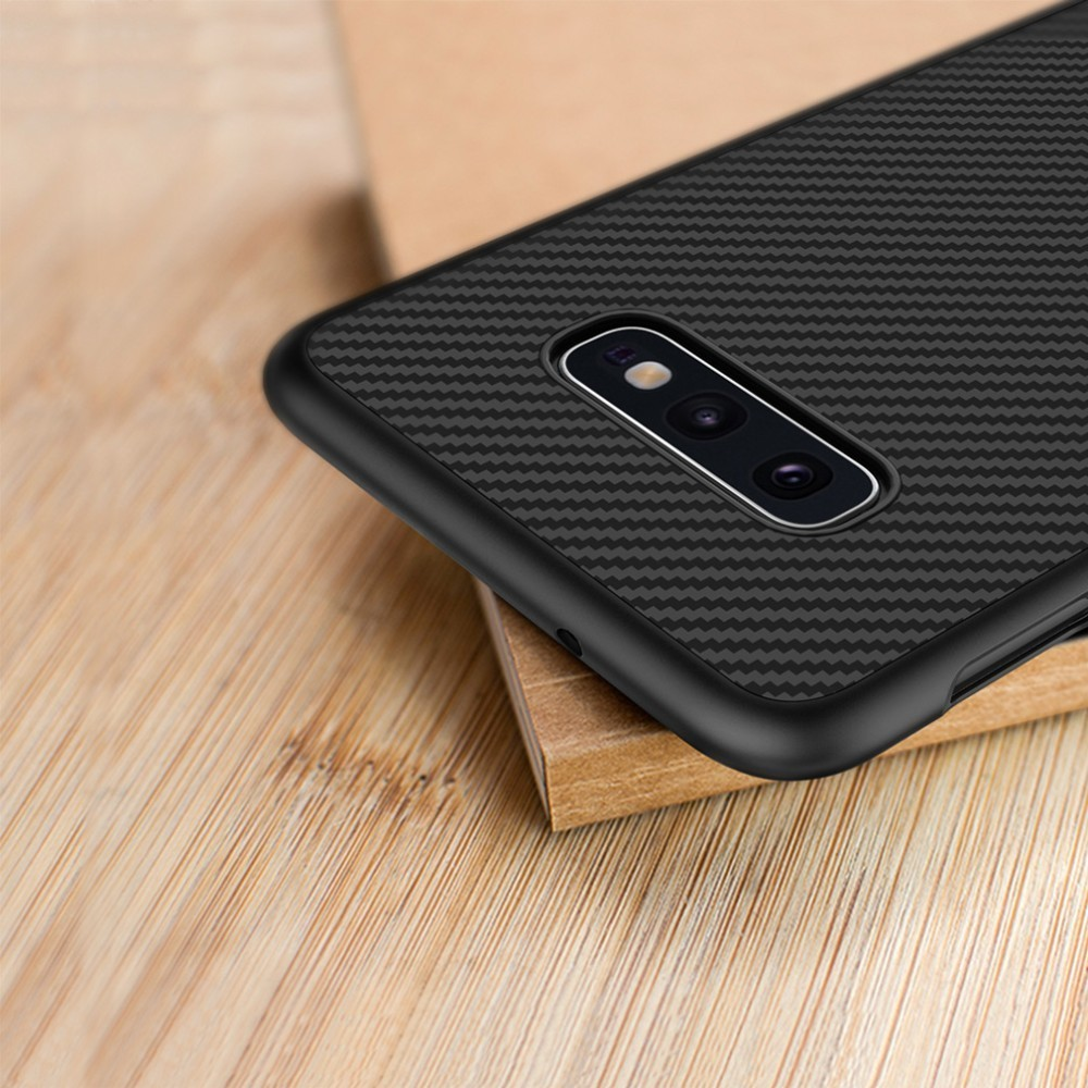 Nillkin Synthetic fiber for Samsung S10e case Carbon Fiber PP Plastic Back Cover for Samsung Galaxy S10e case luxury 5.8''