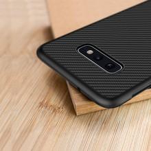 Nillkin Synthetic fiber for Samsung S10e case Carbon Fiber PP Plastic Back Cover for Samsung Galaxy S10e case luxury 5.8
