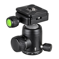 Bexin K30 Camera Accessories 360 Horizontal Rotation Panorama Tripod Ball Head With Quick Release Plate Clamp 1/4 Inch Screw F