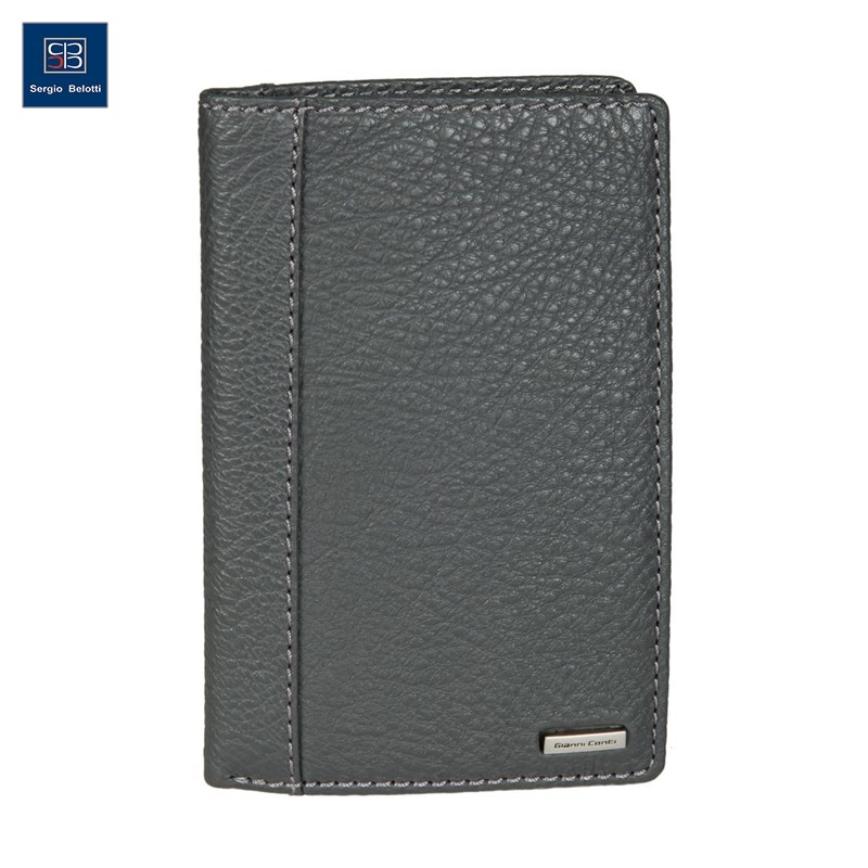Coin Purse Gianni Conti 9518028 dark gray simline vintage genuine crazy horse cow leather men men s long hasp wallet wallets purse zipper coin pocket holder with chain