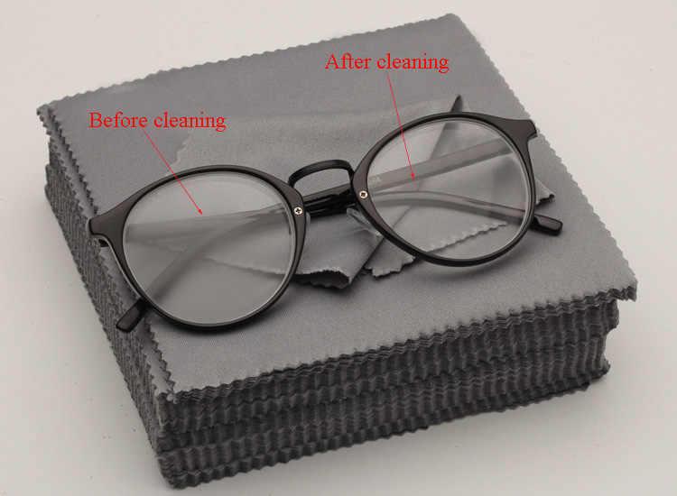 ETya جديد 10 قطعة منديل نظارة ستوكات نظافة الملابس تنظيف النظارات عدسة الملابس السوداء العين منديل نظارة نظارات اكسسوارات