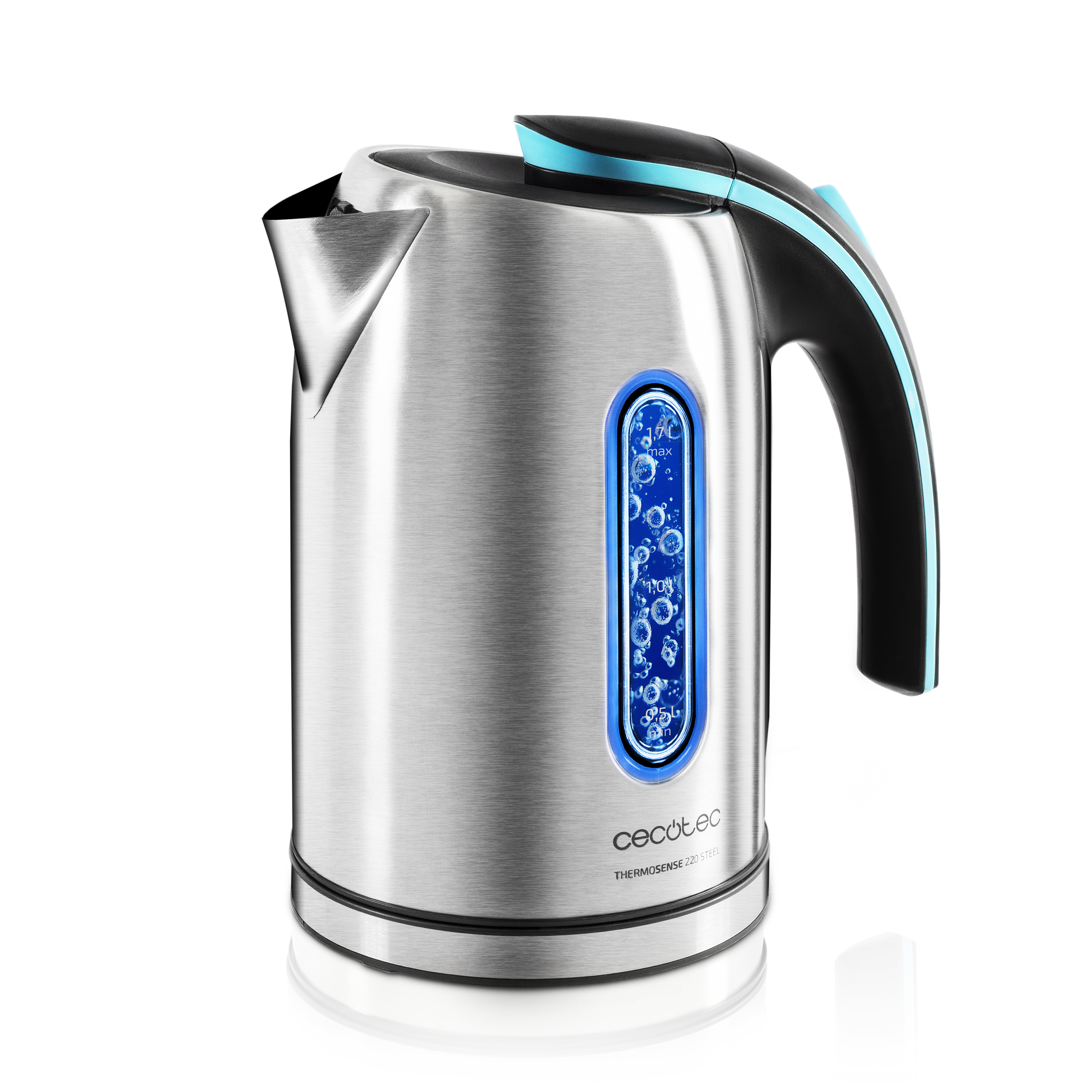 Cecotec Hervidor de Agua Thermo Sense 220 1.2L 1630W Electric Kettle Cup Heated Tea Heater Stainless Steel Brand Quality