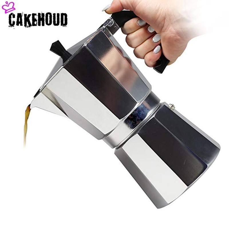CAKEHOUD Aluminum Mocha Coffee Pot Home Office Hot Coffee Tea Set Hand Punch Concentrated Drip Filter Pot Espresso Machine