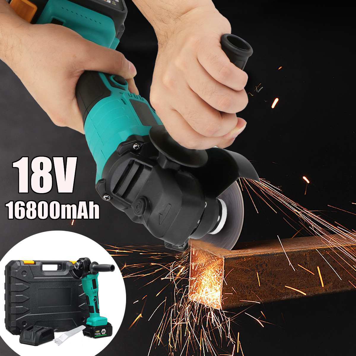 128TV Brushless Angle Grinder Press Type Brushless Machine Rechargeable Polishing Machine With Plastic Box Packaging128TV Brushless Angle Grinder Press Type Brushless Machine Rechargeable Polishing Machine With Plastic Box Packaging