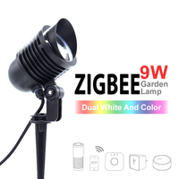 ZIGBEE LED Garden Lamp,9W,RGB+CCT,APP control Color temperature,adjustable color,for Garden, outdoor light work with amazon echo