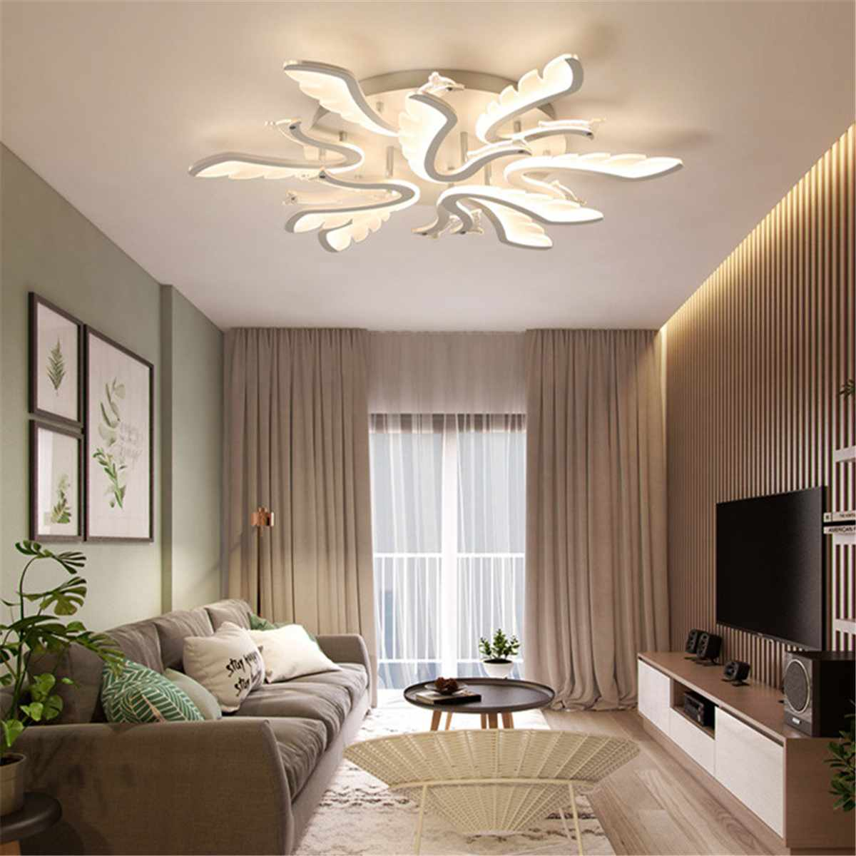 Modern Acrylic Ceiling Light For Living Room Warm Lamp Fixture Nordic Minimalist Design Indoor Lighting Home Decor Led Lamps