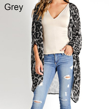 Celmia 2019 Summer Beach Leopard Printed Kimono Cardigan Women Cover Up Long Tops Blouse Loose Shirt Blusas Mujer Plus Size 5XL 4