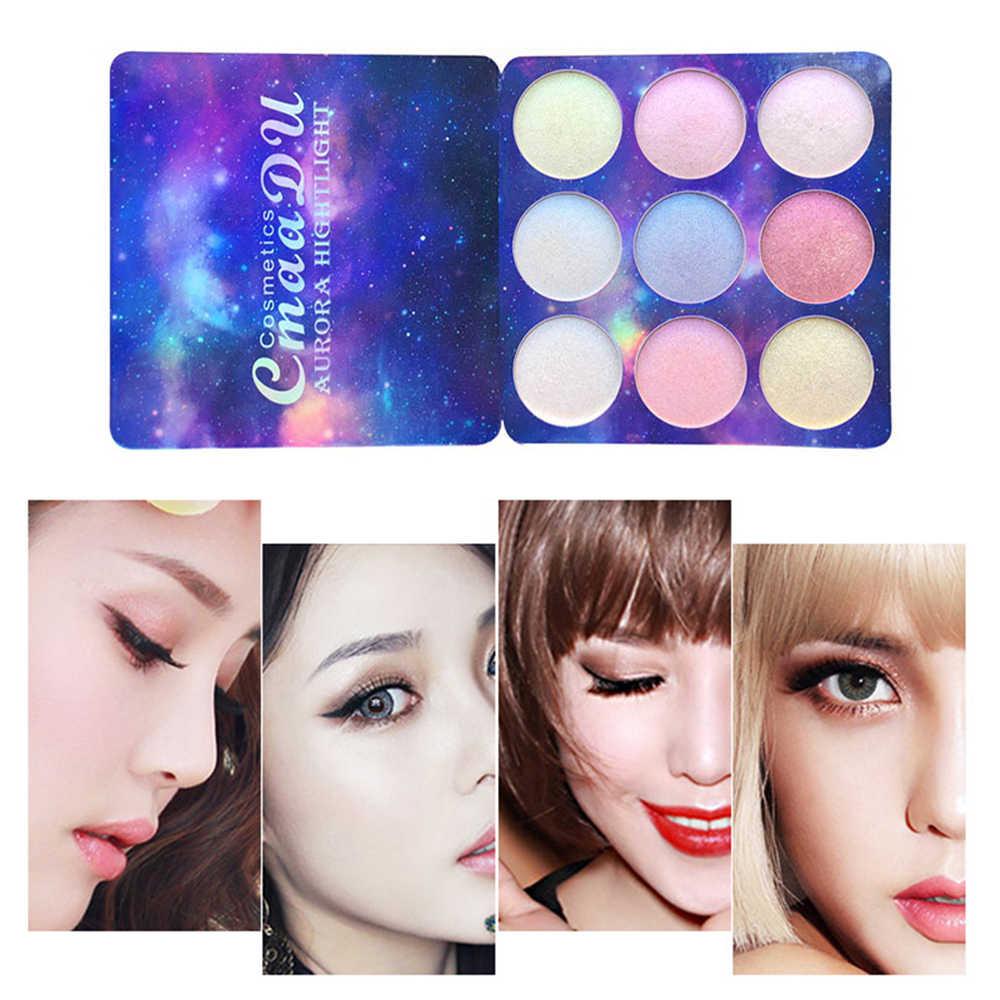 CmaaDu 9 Colors Shimmer Eye Shadow Palette Luminous Nude Make Up Palette Eyeshadow Cream Beauty Cosmetics maquillage TSLM2