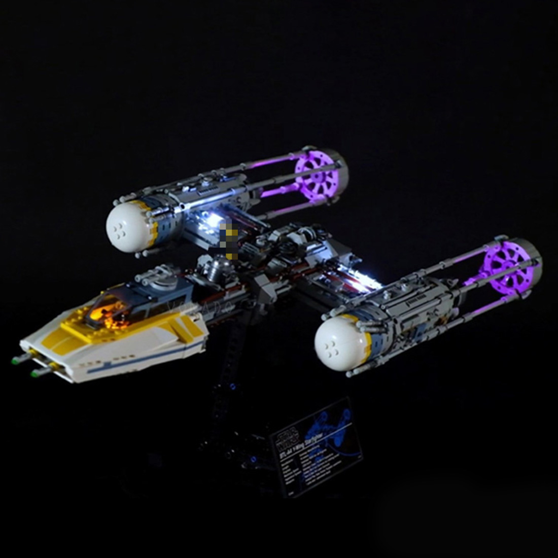 New Kids LED Light For Legoed 75181 Star Wars Y wing Starfighter Set Model Building Block Brick DIY Toys (LED Included Only)