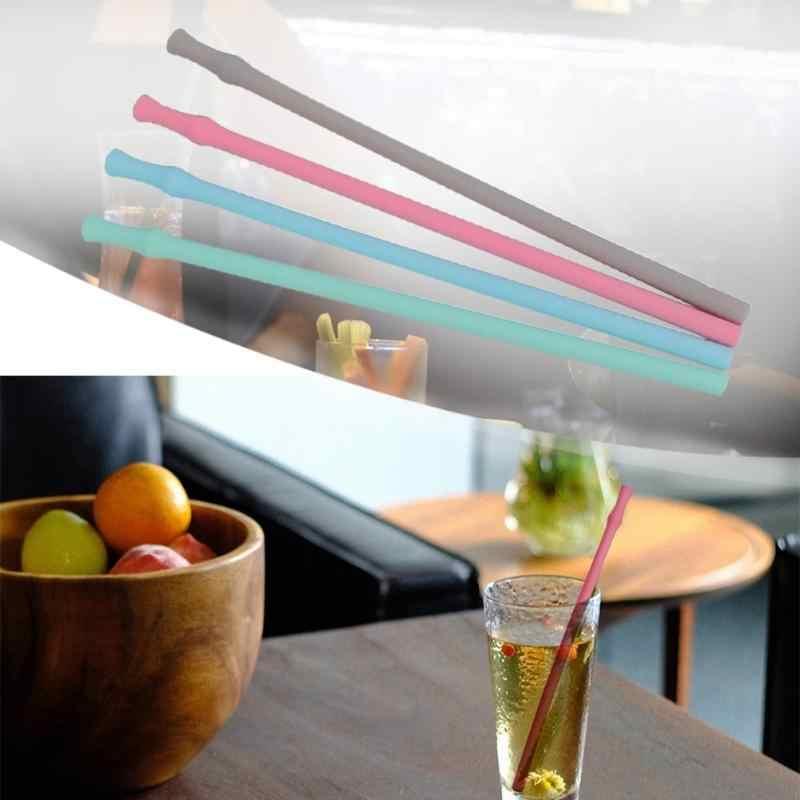 1 pc Reusable Silikon Trinken Strohhalme Extra Lange Flexible Klapp Gerade Strohhalme für Tumbler Home Bar Party Trinkhalme