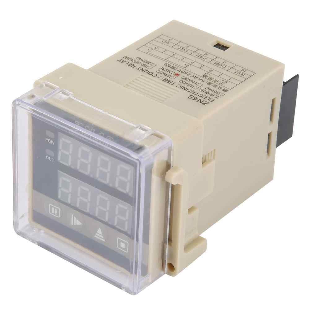 AC220V ZN48 דיגיטלי זמן ממסר דלפק מסתובב משולב מהירות מד תדר דיגיטלי דלפק