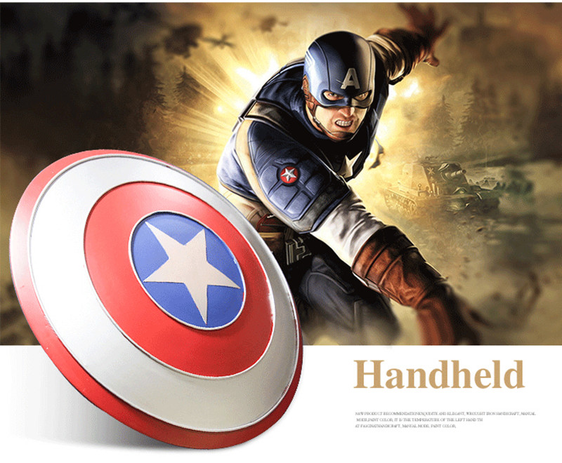 1:1 Captain America Metal Shield 18.5 inch Captain Shield Cosplay Prop Party toy Bars Decoration