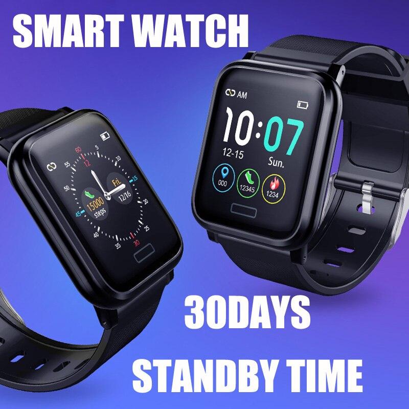 Nuevo reloj inteligente de las mujeres de los hombres de Monitor de presión arterial Fitness Tracker reloj inteligente reloj deportivo para ios android + caja
