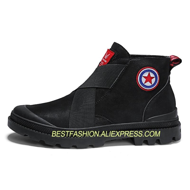 L5 Sapatos Personalidade green De Homens Retro Da Outono Cara Dos brown Alta top Espírito Botas Martin Versão Couro Black Maré Casuais zEqxRTw1x