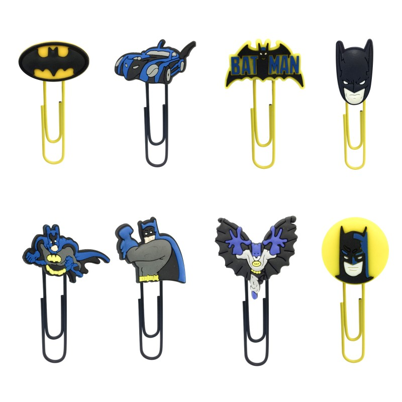 1pcs Batman Cartoon Action Figure Bookmarks Stationery Bookmark For Kids DIY Paper Clips At School Office Supplies Gift