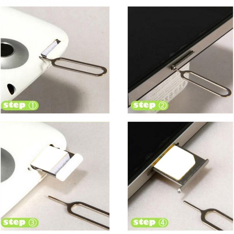10pcs Sim Card Eject Pin Key Tool Needle SIM Card Tray Holder Eject Pin for iPhone7 6 5 For Xiaomi3 For Samsung #25 3