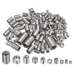 150 pçs m3 m4 m5 m6 m8 conjunto kit de inserção de reparo de rosca de aço inoxidável acessórios de fixação de ferragem de hélice