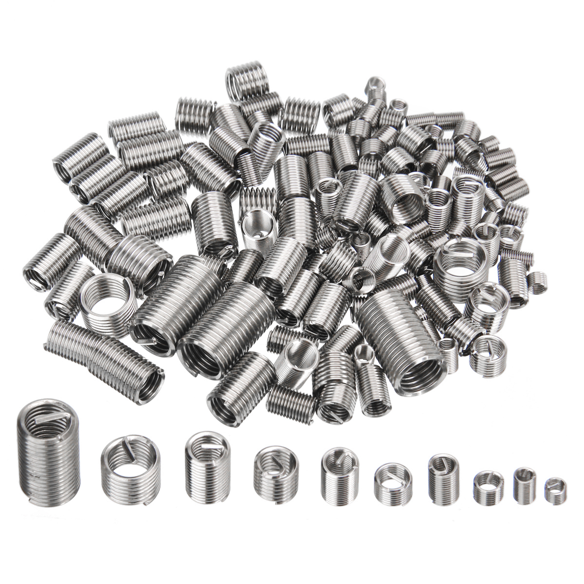 150pcs M3 M4 M5 M6 M8 Thread Repair Insert Kit Set Stainless Steel Helicoil Hardware Fastener Accessories