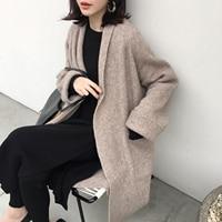 Fitaylor Autumn Winter Woolen Coat Women Fashion Loose Woolen Coat Korean Style Chic Long Sleeve Wool Blends Coat