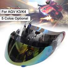 Full Face Shield Motorcycle Helmet Visor Lens Shield For AGV K3 K4 Motocross