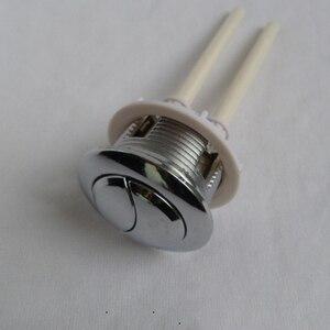 Image 3 - Depósito de agua para inodoro de 38/48/58mm con doble botón de descarga, 2 varillas de ABS de 70mm con forma de media luna, botón de 114mm para cubierta de Depósito