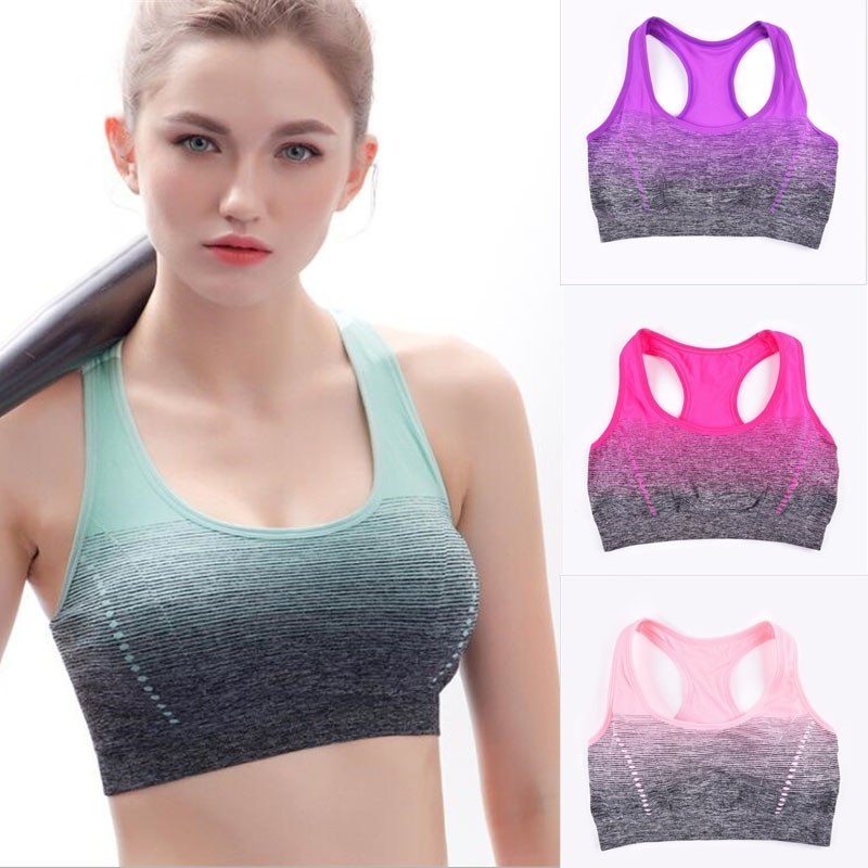 Fitness Ladies Sports Bra Top Running Yoga Gym Seamless Breathable Wear Vest New