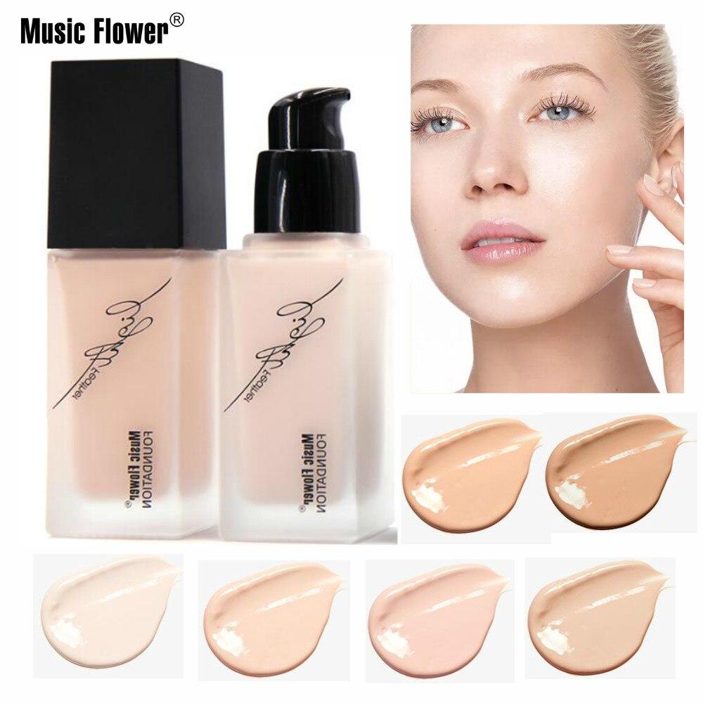Music Flower Liquid Makeup Foundation Natrual Waterproof Concealer Long-lasting Moisturizer Refreshing Make Up Base