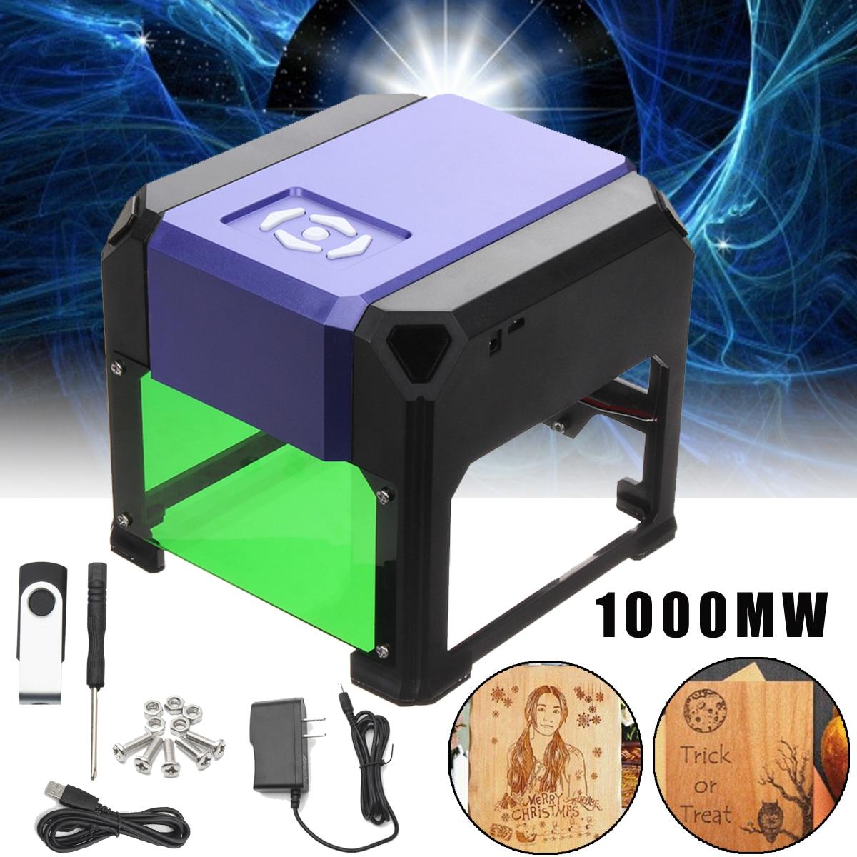 1000mW Laser Engraver DIY Engraving Machine Cutter DIY Logo Mark Printer CNC Laser Cutter Carving 80x80mm For WIN/7/8/10 for XP цена 2017