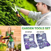 Garden Tools Set  5 /10  Lightweight Gardening Tools Kit Non-slip Handle Garden Hand Tools Gifts Garden Tools Weeding Digging