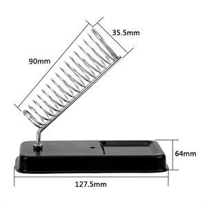 Image 3 - Elektryczna podstawka do lutownicy DIYWORK z podkładkami do spawania gąbka do czyszczenia ogólna odporność na wysoką temperaturę