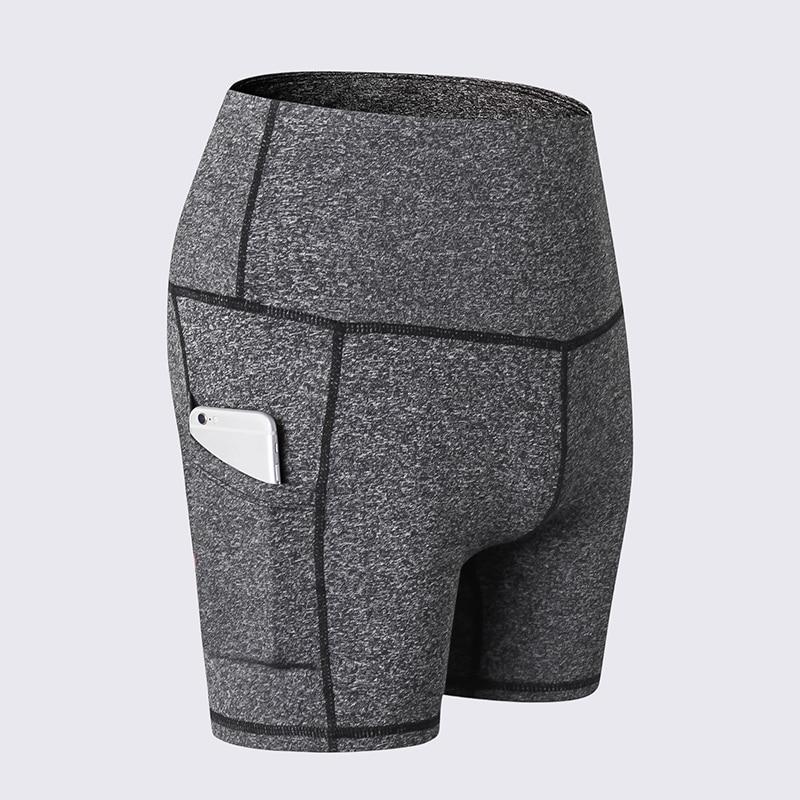 Fashion Women Fitness Sports Shorts Stretch Side Pockets High Waist Running Workout Training Short Pants Shorts Trousers