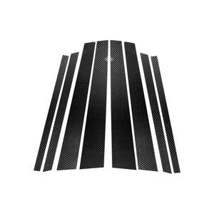 Image 4 - For BMW 3 5 Series E90 E60 F30 F10 X5 X6 E70 E71 F15 F16 F07 X3 F25 E46 X1 E84 Car Carbon Fiber Window B pillar Molding Cover