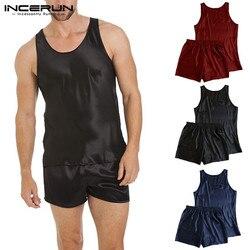 2019 сексуальная ночная рубашка, домашний халат Для мужчин s пятностойкий шёлк Для мужчин пижамы для девочек и мальчиков; пижамы костюм без ру...