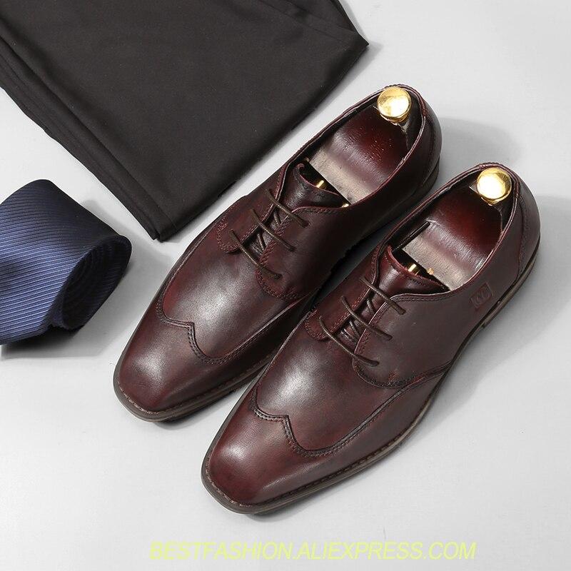 Alta As Shown Real Lace Oxfords Casuais Luxo Mão Homens Qualidade Negócios Marrom Feitas Sapatos À preta as Estilo Shown De Italiano Couro Up O8nWCWH