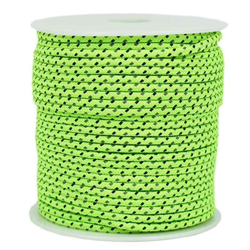 50M wielofunkcyjny odkryty Paracord Luminous linka do parasola odblaskowe Survival Rescue linka do parasola Camping Paracord Cord