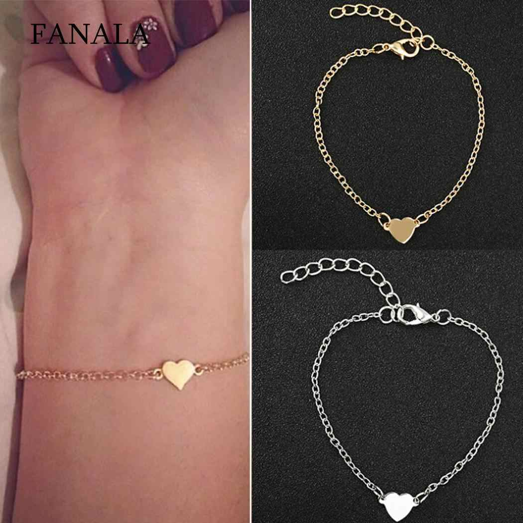 Pendant 2cm Shape 4 Personality 7inch Party Heart Dating Gift 1 Daily Fashion Banquet Hook Women Jewelry Bracelet