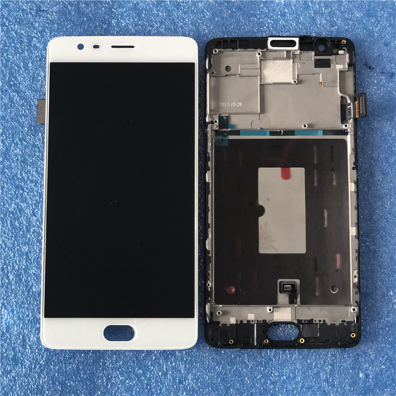 Original For OnePlus 3 One Plus3 A3000 A3003 Amoled Axisinternational LCD Screen Display With Frame Touch