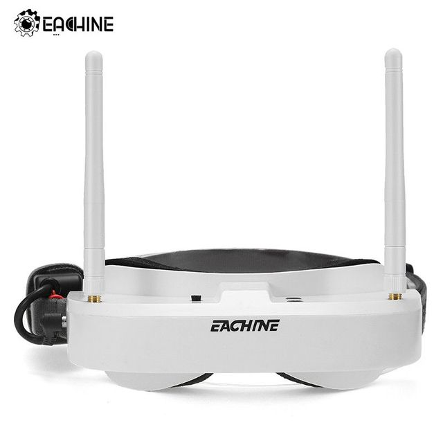 In Lager Eachine EV100 720*540 5,8G 72CH FPV Brille Mit Dual Antennen Fan 7,4 V 1000 mAh batterie FPV Drone VS Fatshark Aomway