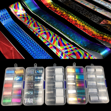 9 дизайн 10 шт голографическая Цветочная Фольга для ногтей переводная бумага для дизайна ногтей/Цветочная/кружевная печать украшение для ногтей переводная наклейка