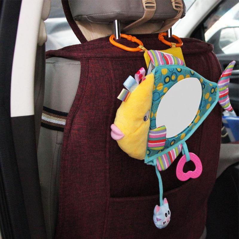 2019 Multicolor Breite Ansicht Hinten Einstellbar Baby Auto Zurück Sitz Spiegel Kinder Fisch Plüsch Sicherheits Ansicht Monitor Für Baby