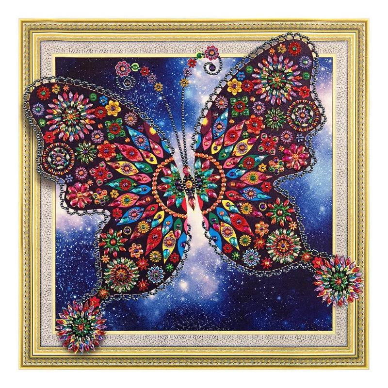 DIY Butterfly 5D Full Diamond Embroidery Painting Cross Stitch Art Craft Decor