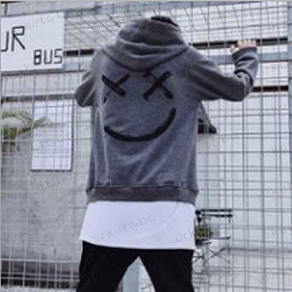 Dropshipping. Exclusivo. Los proveedores de los hombres sudaderas con capucha sudaderas sonrisa impresión sombrero Sudadera con capucha ropa informal estilo hip hop tamaño de talla grande 3XL