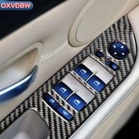 For bmw e60 accessories Car sticker Carbon Fiber Window Lifter Control Decor Armrest Panel Trim car Interior 5 series