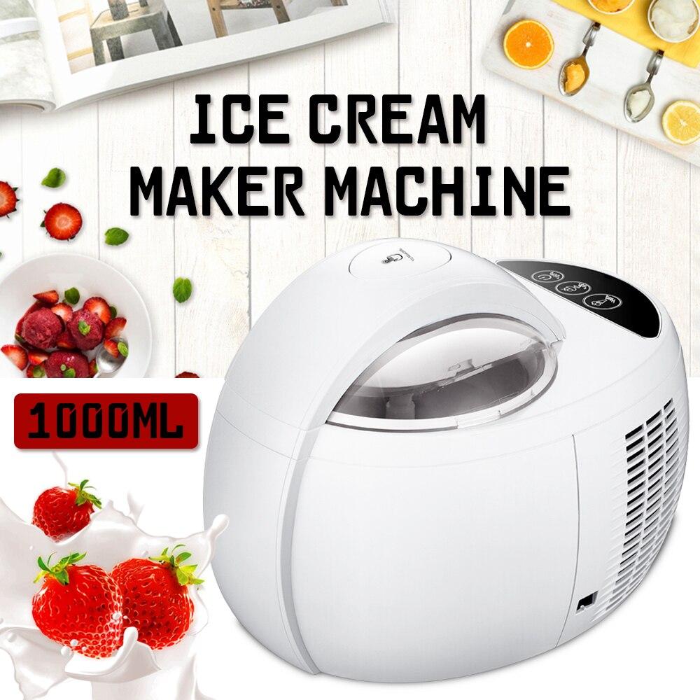 110 w 1000 ml Ice Cream Máquina automática Multifuncional DIY Fruit Ice Cream Maker Sobremesa Caseira