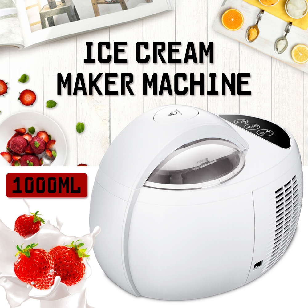 110 w 1000 ml Ice Cream Máquina automática Multifuncional DIY Fruit Ice Cream Maker Sobremesa Caseira