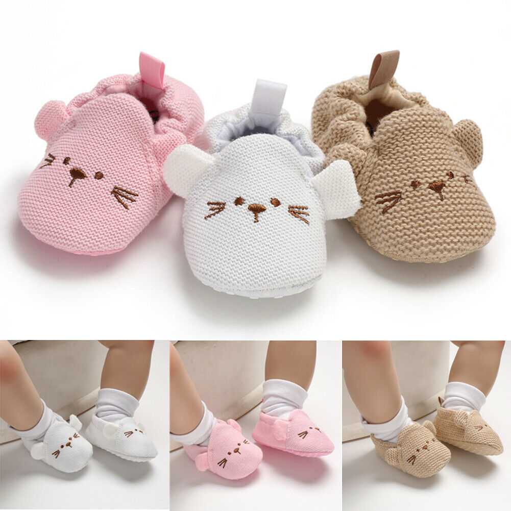 Cute Newborn Baby Girls Boys Soft Sole Crib Shoes Infant Toddler Sneaker Anti-Slip Outfit 0-18M
