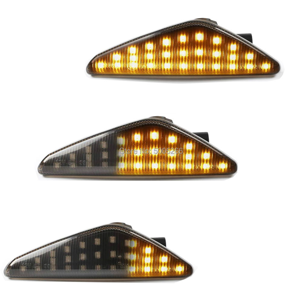 2x LED Dinâmico Fender Lado Marcador Turn Signal Lâmpadas Para BMW X5 E70 X6 E71 E72 X3 F25 Âmbar