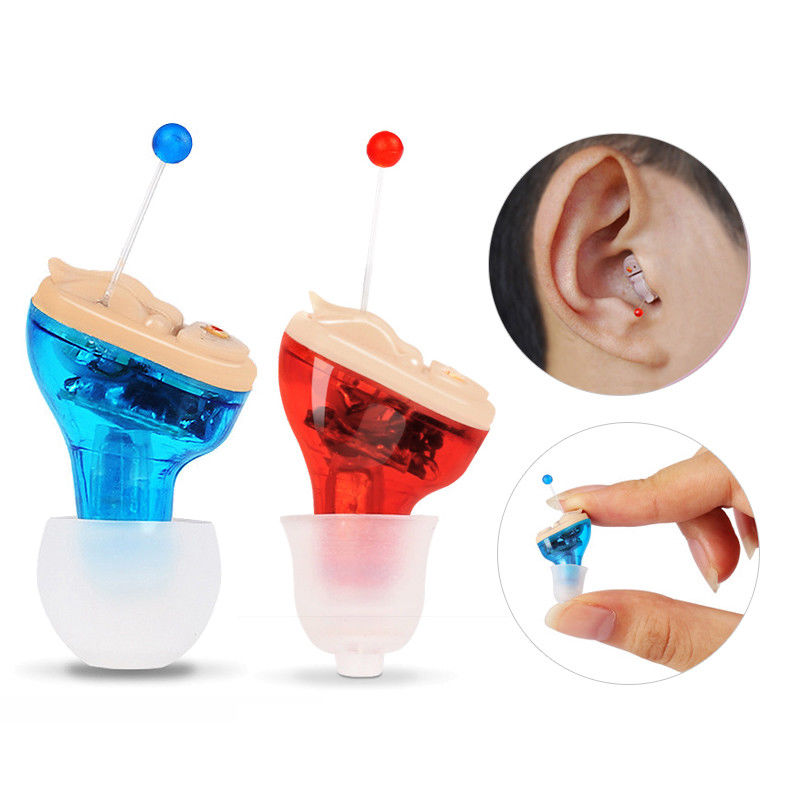 Mini 1pair  Digital Hearing Aid  Invisible Small Voice Amplifier Sound Enhancer For The Elderly Deaf